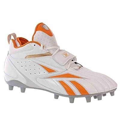 Reebok PRO FULL BLITZ STRAP MP Mens Football Shoes White Orange Silver 12 M