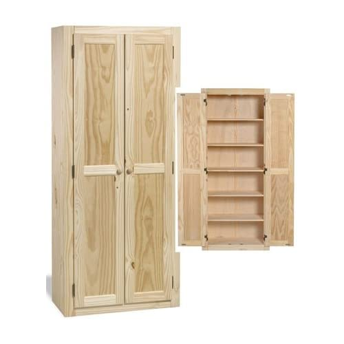 solid wood large unfinished kitchen pantry