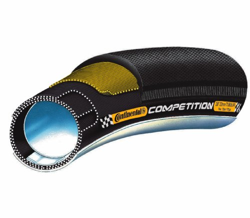 Continental Competition Tubular Road Bicycle Tire with Black Chili (26x22, Tubular, Black)