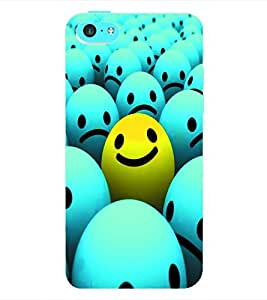 ColourCraft Smiley Back Case Cover for APPLE IPHONE 5C
