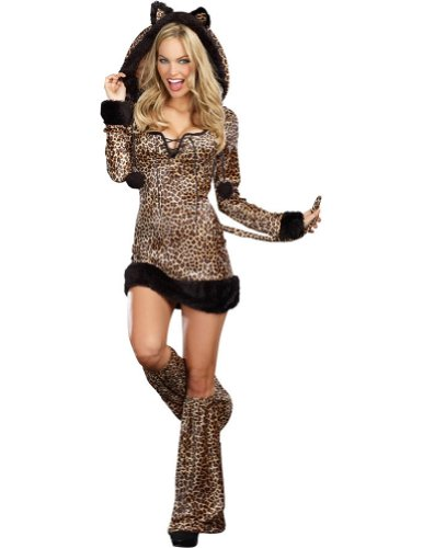 Cheetah Luscious Adult Womens Costume Xl Adult Womens Costume