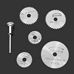 6pc HSS Circular Saw Blade Set For Metal & Dremel Rotary Tools by TOOLS CENTRE