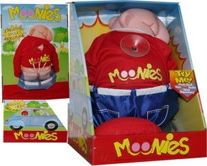 Moonies flashy white elephant gift toy