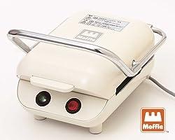 モッフル プレスもちメーカー 【毎日、美味しい、お餅のモッフル プレスもち】 1枚焼き ミルクホワイト MMH-100S-MW