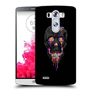 Snoogg Colorful Grey Skull Designer Protective Back Case Cover For LG G3 BEAT
