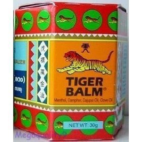 Tiger Balm Red Herbal Rub Muscles Pain Relief Headache 30 G.(big Jar) Amazing of Thailand (Tigers Jar compare prices)