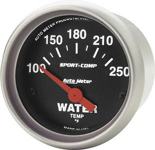 Auto Meter 3337 Sport-Compact Short Sweep Electric Water Temperature Gauge