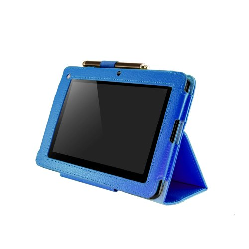Blisterland Premium Anti-Shock Protection Case für Acer Iconia Tab B1 -A71 Tablet 7″ Zoll | Farbe: Blau | Multifunktional Bookstyle verstellbare Tasche Ledertasche / Hülle / Etui / Cover mit Stylus Touchpen Eingabestift