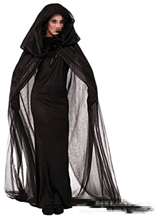 C.X Trendy Womens Hooded Cloak Halloween Witch Vampire Costumes