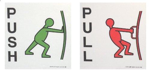 push-pull-manr-adhesivos-con-diseno-de-senales-de-empujar-y-tirar-imagenes-palabras-verde-rojo-negro