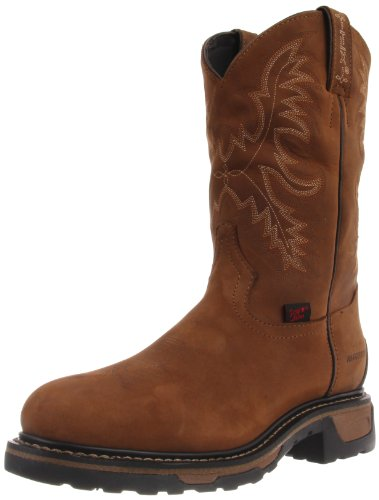 Tony Lama Boots Men's Waterproof Steel Toe TW1006 Work Boot,Tan Crazy Horse,12 EE US