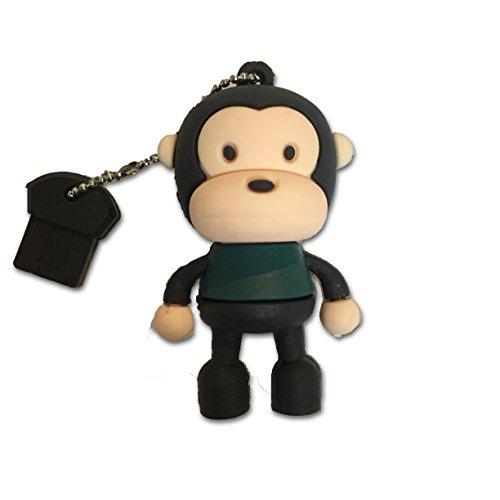 Tomax scimmia in piedi con camicia verde come un flash drive USB con 64GB di memoria USB Flash Drive