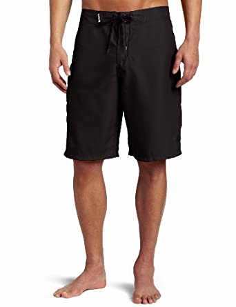 Hurley Men's One and Only Solid Boardshort, Black, 28