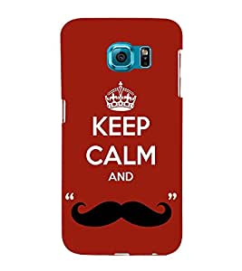 Nice Quote On Keep Carm 3D Hard Polycarbonate Designer Back Case Cover for Samsung Galaxy S6 :: Samsung Galaxy S6 G920
