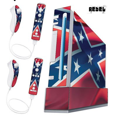 Nintendo Wii Console Skin - Rebel Flag