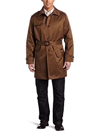Buy London Fog Mens Fairfield Single Breasted Belted Trench Coat