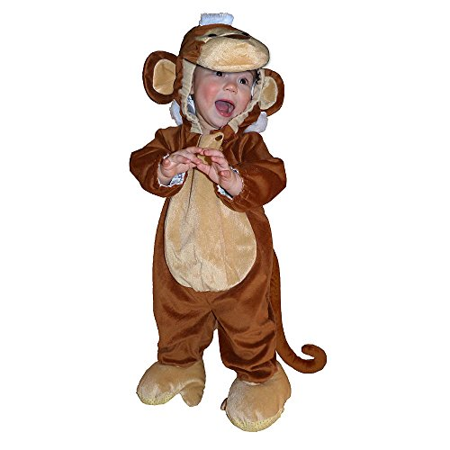Totally Ghoul Plush Monkey Jumper Toddler Halloween Costume 6-12 Months