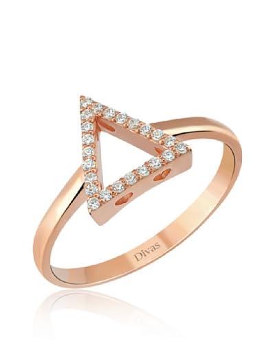 Divas Diamond Anello White Topaz [Rosé]