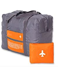 PETRICE Travel Foldable BAG,Polyester Material, Large Capacity Waterproof Foldable Lightweight Luggage Bag (ORANGE...