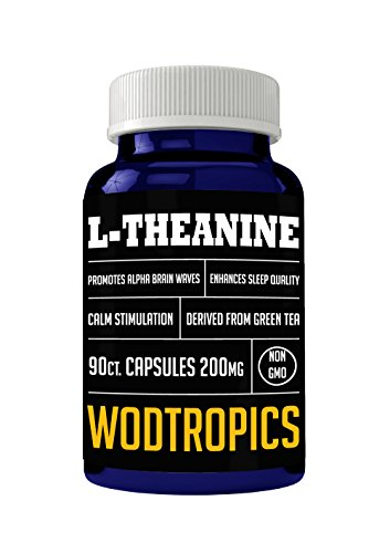L-Theanine Capsules for Anxiety Relief, Improved Sleep Quality and Added Concentration - Theanine Nootropic for Improved Cognitive Performance by WodTropic, 100% (Enhanced Energy Supreme compare prices)