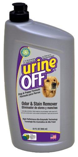 Urine Off Odore e smacchiatore per cani e cuccioli con moquette iniettore Cap, 946ml