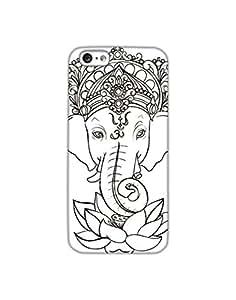 Dukancart Black and White Spiritual Back Cover for Apple iPhone 6 DDI60128
