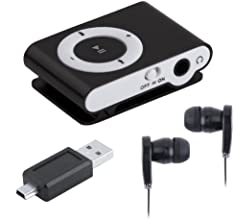 Mini Clip Metal USB MP3 Music Media Player With Micro TF/SD Card Slot Support 1-8GB + Earphone Black