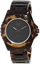 KR3W Men's K1425BNTO Phantom Elite Brown Marbleized Tortoise Shell Watch