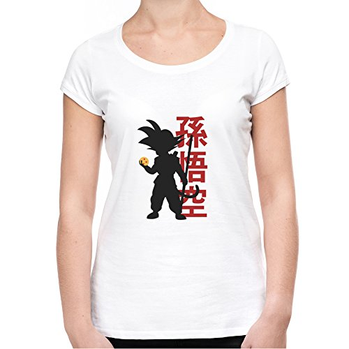 Son-Goku-Hoding-Dragon-Ball-Camiseta-Mujeres-XX-Large