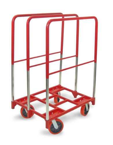 """Raymond 3881 Steel Panel Mover with 3 Extra Tall Upright and 8"""" x 2"""" Quiet Poly Caster, 2400 lbs Capacity, 38-1/2"""" Length x 27-1/2"""" Width by Raymond Products"""