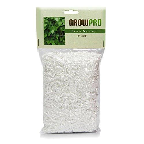 Grow Pro Heavy-Duty White Vertical Garden Trellis Mesh Netting 5 feet x 30 feet (Tomato Netting compare prices)