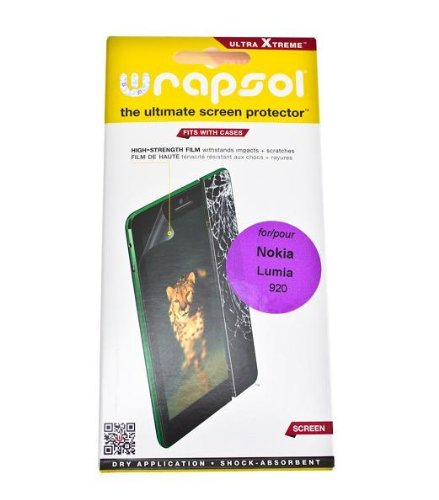 Wrapsol Ultra Xtreme Screen Protector Lcd Film For Nokia Lumia 920 - Front Only