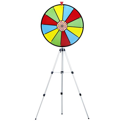 24 Inch Color Dry Erase Prize Wheel With Stand By Midway