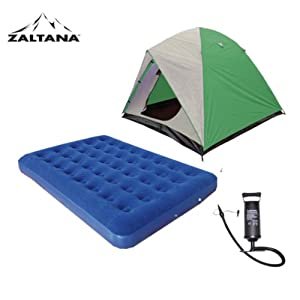 6 PERSON TENT WITH AIR MATTRESS(DOUBLE) AND AIR PUMP SET