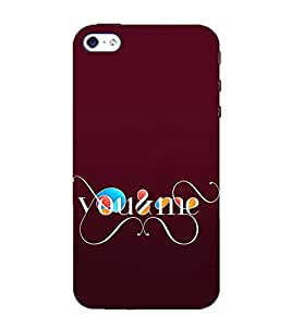 You and Me 3D Hard Polycarbonate Designer Back Case Cover for Apple iPhone 4 :: Apple iPhone 4S