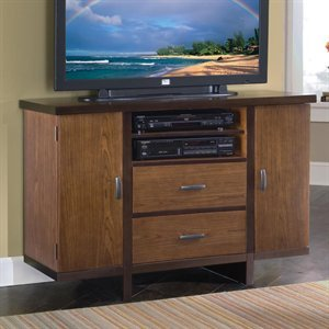 Cheap Home Styles 5539-100 Compact Credenza TV Stand, Walnut (B005JRO866)
