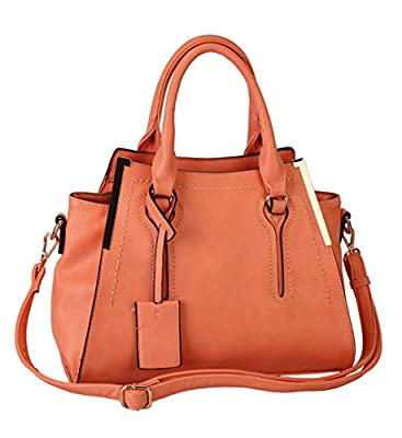 Rimen & Co. Double Rolled Top Handles Satchel Handbag