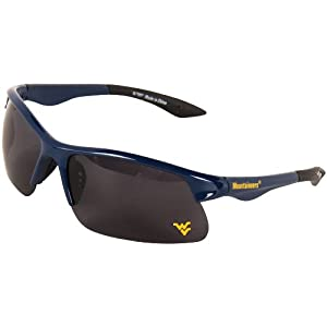 Buy NCAA West Virginia Mountaineers Collegiate Polarized Sunglasses, Sport Rim, Blue by CA Accessories