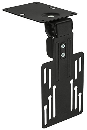 Mount-It! MI-LCDCM Kitchen Under Cabinet Mount TV Ceiling Mount Folding Bracket, 90 Degree Tilt, Fold Down, Swivel for 13 to 23 inch LCD, TV, LED, Monitor, Flat Screens up to VESA 100×100