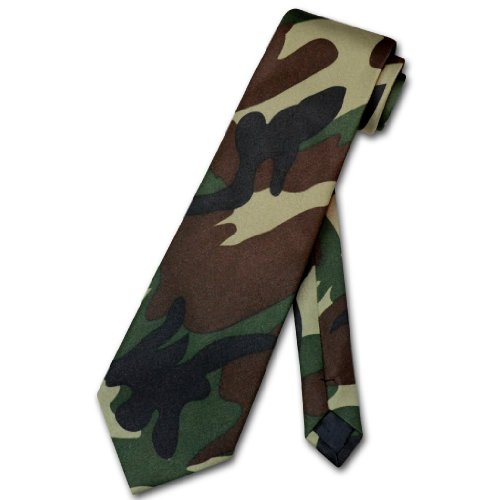 COVONA Men's Green Army Camouflage NeckTie Military Neck Tie (Camo Neck Ties compare prices)