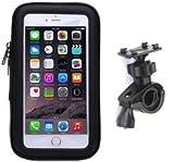 【AC BiSHOP】 防水防塵 ケース マウント ホルダー キット GPS ナビ スマホ iphone 自転車 バイク ポケモンGO に (6/6sまで対応(脱着防止ストラップ付))