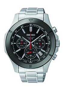 Seiko SSB111P1 Men's Chronograph Dark Dial Stainless Tone Watch