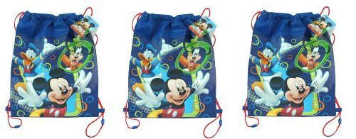 Disney Mickey Club House Non Woven Sling Bag x 3 - 1
