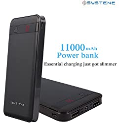 SYSTENE High Energy 11000mAh Power Bank - Black