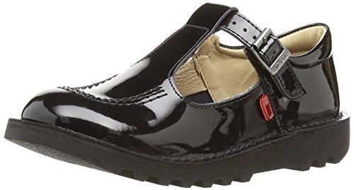 Kickers - Kick T  Patent Junior, Sandali  Unisex - Bambino, Nero (black/black), 32