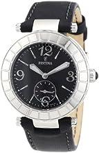 Festina F16619/4 - Reloj analógico de cuarzo para mujer con correa de piel, color negro