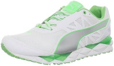Puma Women's Pumagility XT Elite Running Shoe,White/Puma Silver/Summer Green,5.5 B US