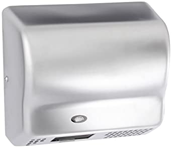 American Dryer Global GX3-C Steel Cover Automatic Hand Dryer, 208-240V, 1,500W Power, 50/60Hz, Satin Chrome Finish