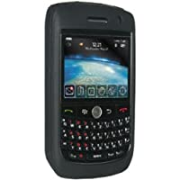 Amzer 83588 Silicone Skinelly Case - Jet Black For BlackBerry Curve 8900