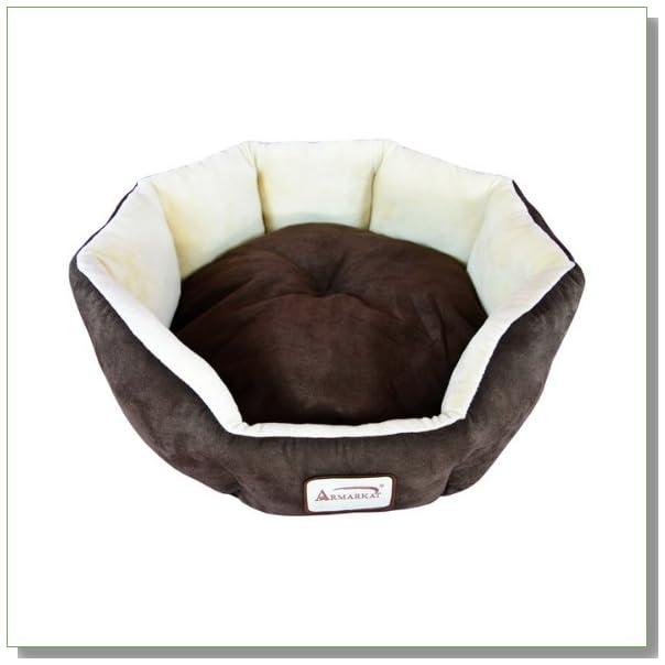 Armarkat C01HKF/MH Cozy Pet Bed 20-Inch Diameter, Mocha Beige